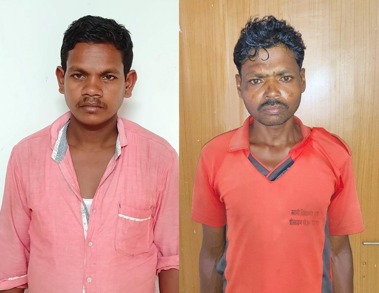 एक स्थायी वारंटी समेत दो नक्सली गिरफ्तार