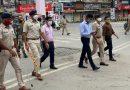 लाॅकडाउन के पहले दिन कलेक्टर, एससपी के साथ पुलिस ने किया फ्लैग मार्च…